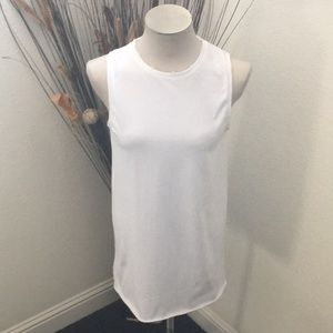 NWOT Forever 21 White Distressed Sweatshirt Dress
